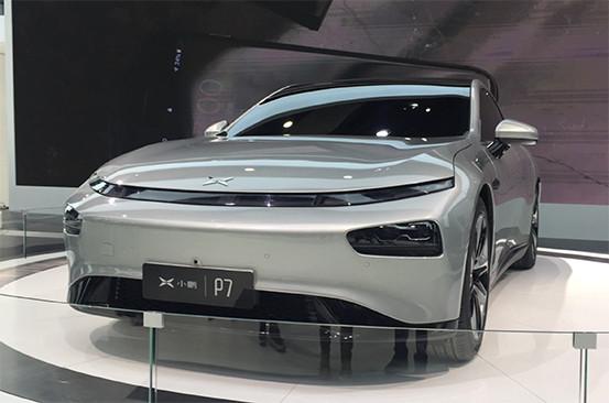 小鹏汽车P7上海车展正式亮相