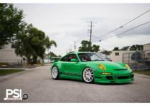 绿色保时捷911GT3 RS搭载HRE轮毂