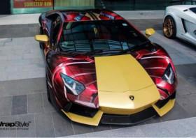 超级英雄主题的超级跑车