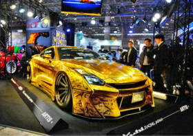 亮瞎你的眼 3D浮雕版金色日产GT-R