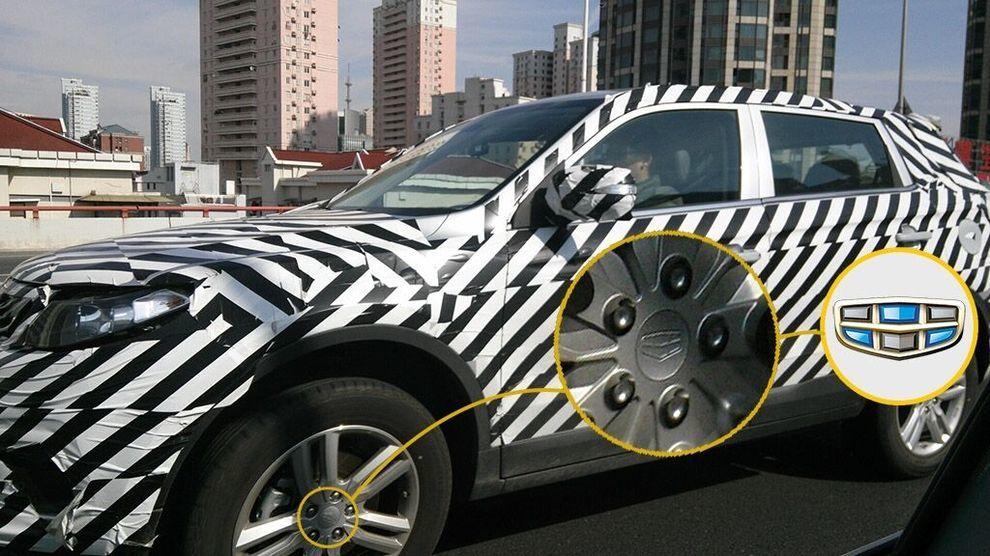 吉利新款SUV路试谍照曝光高清图片