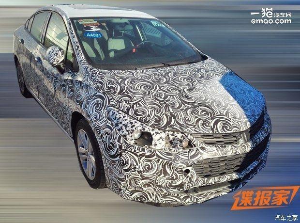 科鲁兹XL还是科沃兹 雪佛兰新车新商标曝光高清图片